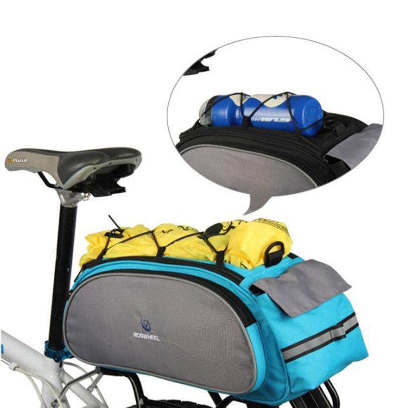 Cycling Bicycle Bike Rack Bag BLUE Seat Cargo Bag Rear Pack Trunk Pannier Trunk