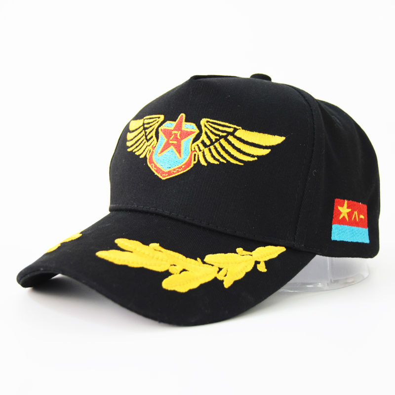 55b19d337b9 Model aircraft souvenir hats The Chinese air force flight cap Patriotic army  fan cap Outdoor combat cap Accept custom wholesale-in Military Hats from ...