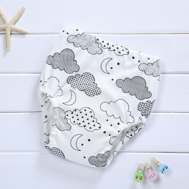 1 bawełna dziecko pieluchy wielokrotnego użytku wielorazowa pielucha z tkaniny dziecko dziecko dziecko bawełniane spodnie treningowe bielizna