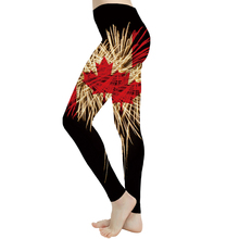 KYKU Brand Maple Leaf Leggings Women Canada Ladies Psychedelic Sport Fireworks 3d Print Gothic Printed pants Spandex