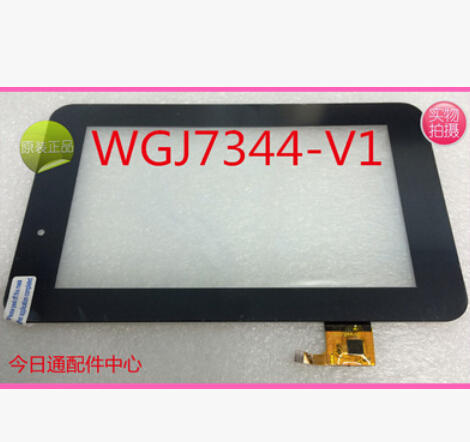 New capacitive screen for 7 inch Tablet WGJ7334-V1 Touch Screen Panel Digitizer Glass Replacement Free Shipping for new mglctp 701271 yj371fpc v1 replacement touch screen digitizer glass 7 inch black white free shipping