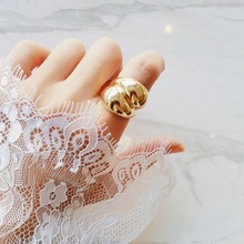 Silver Gold Color Stainless Steel Finger Ring for Women anillos muje Punk Style Two Ball Ring Party Fashion Jewelry