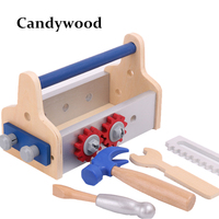 Kids Wooden Multifunctional Tool Set Maintenance Box Wooden Toy Baby Nut Combination Tool Toys Educational
