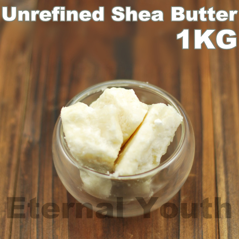 Unrefined Shea Butter 1000g 1kg  ORGANIC Base Oil Grease egomania shea nut butter conditioner