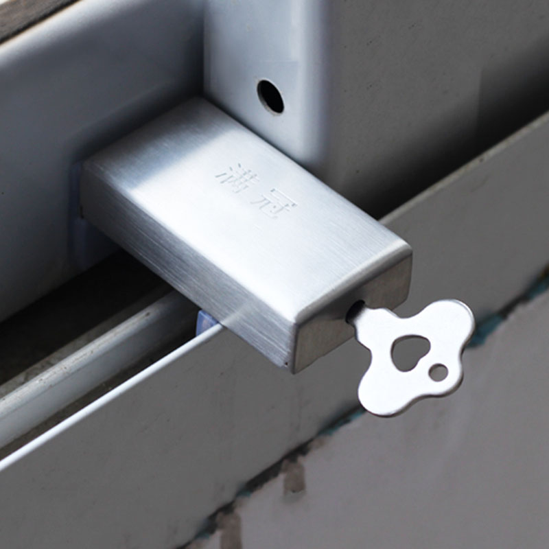 Window Stopper Baby Safety Window Restrictor Cabinet Latch Locks Anti Theft Metal Door Stopper Sliding Window