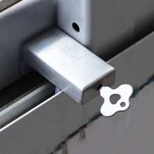 Window Stopper Baby Safety Window Restrictor Cabinet Latch Locks Anti-Theft Metal Door Stopper Sliding Window Lock + Key