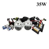 Car Styling Bixenon Hid Projector Lens Xenon Kit 35w Bulb Ballast Projector Shroud Mask Retrofit H1