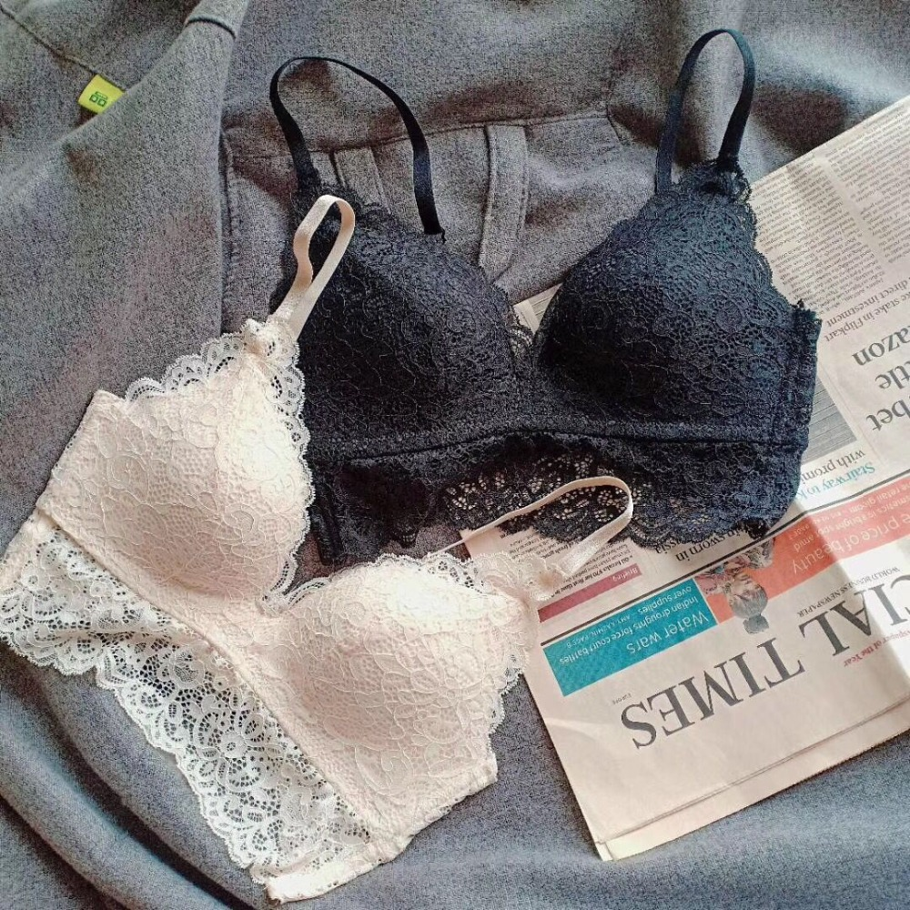 Summer Ultra-thin Sexy Underwear Seamless Wire-Free   Bra     Brief     Sets   Lace Embroidery Lingerie Adjusted   Bras   Women Cotton   Bra     Set
