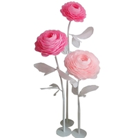 Peony Standing Giant Paper Flower Shop Window 1 Set