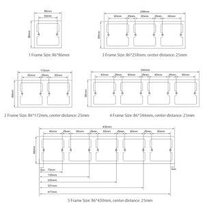 Image 3 - Настенная двойная Евророзетка, 16 А, 110 240 В, Размер 172*86 мм