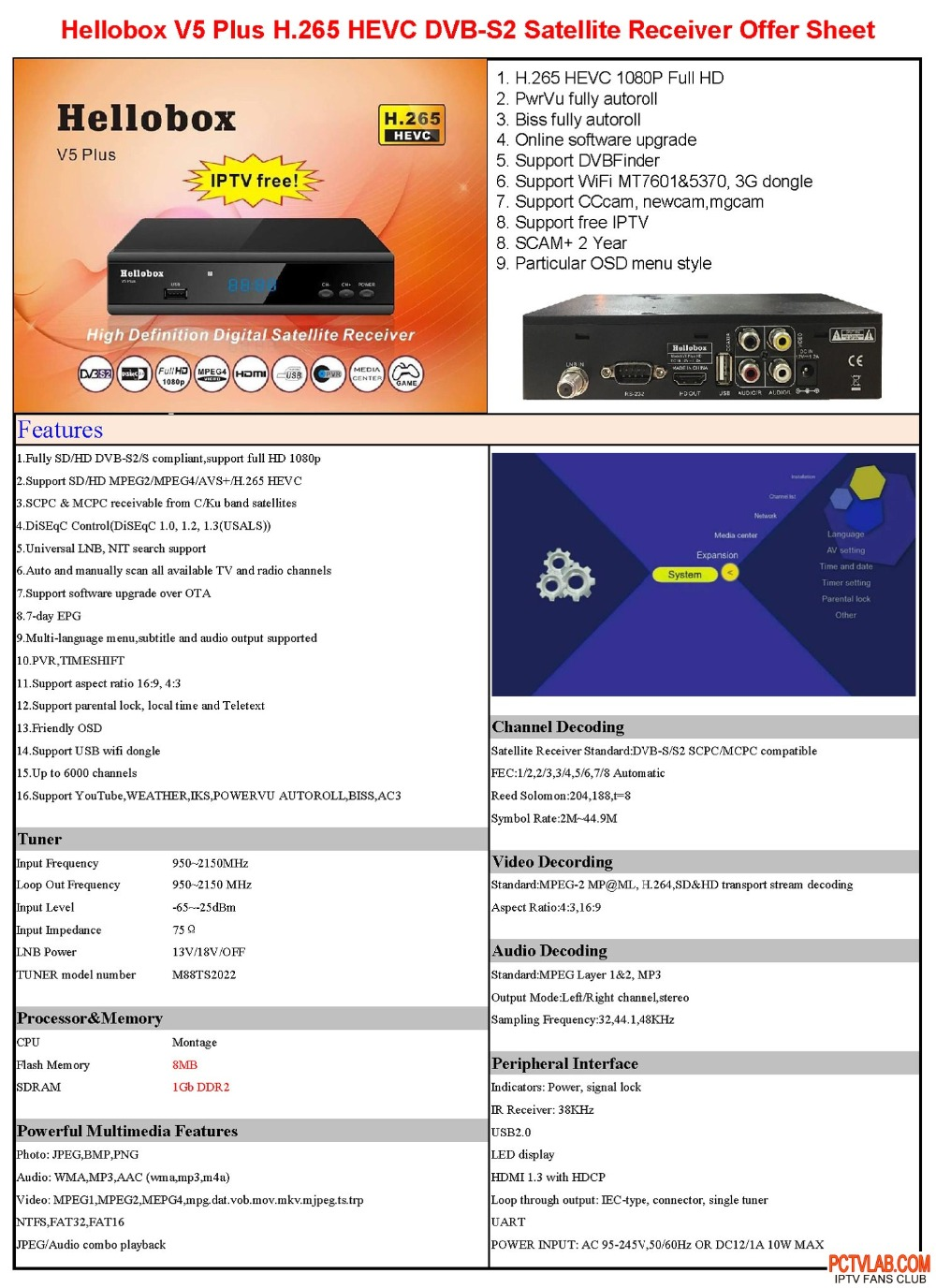 Detail Feedback Questions about hellobox V5plus DVB S2