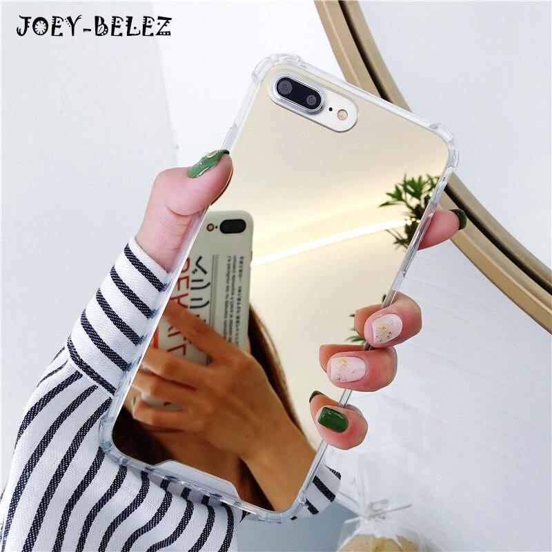 Miroir Cas de Téléphone pour iPhone 7 8 Plus TPU Retour Protect Case pour iPhone X Xr Xs Max 6 s 8 plus la Couverture Reflètent Girly Mignon Cas Capa