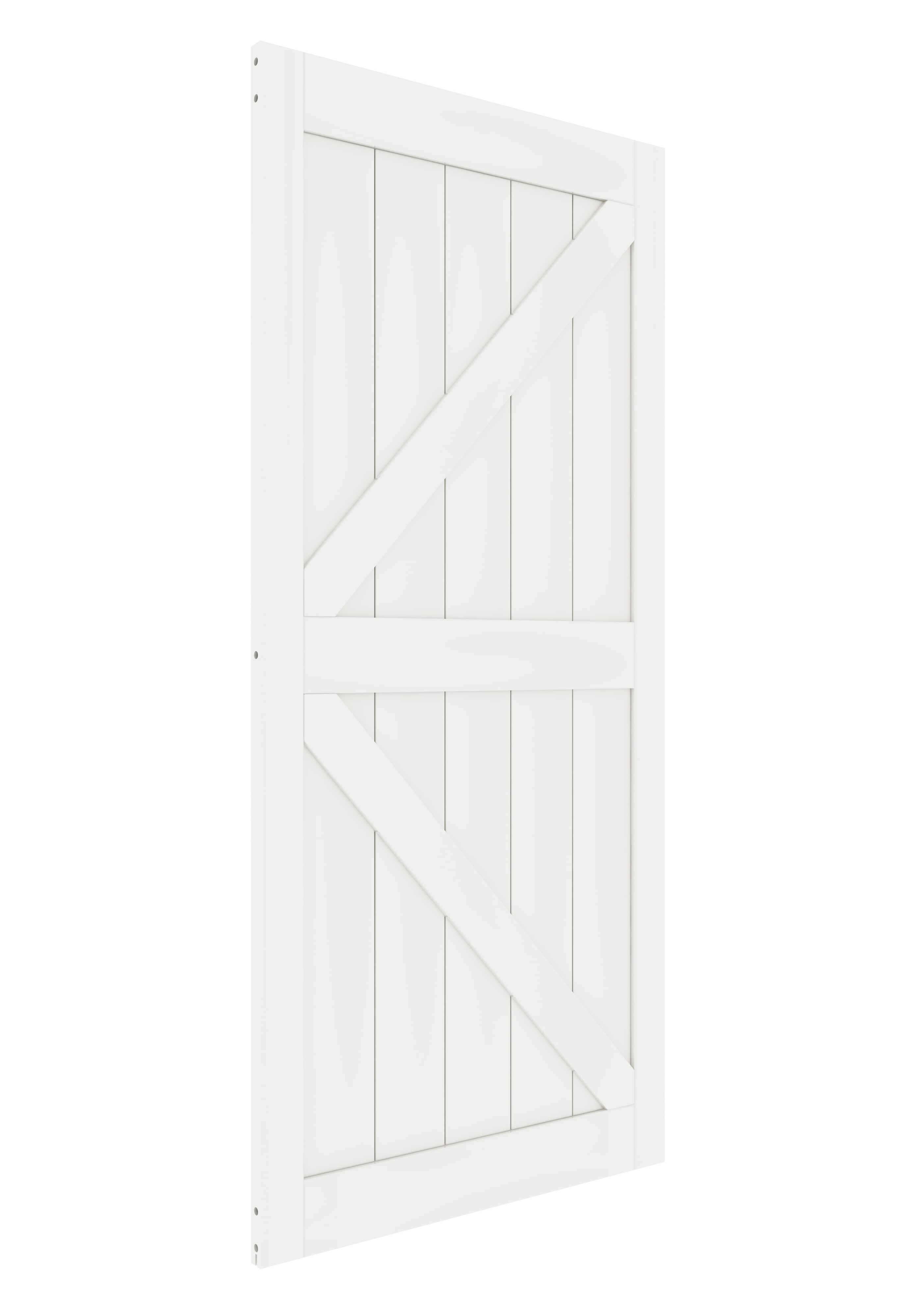 DIYHD K en forme de noyau solide grange dalle MDF apprêté panneau de porte intérieure (démonté), White-36X84, White-38X84 - 2