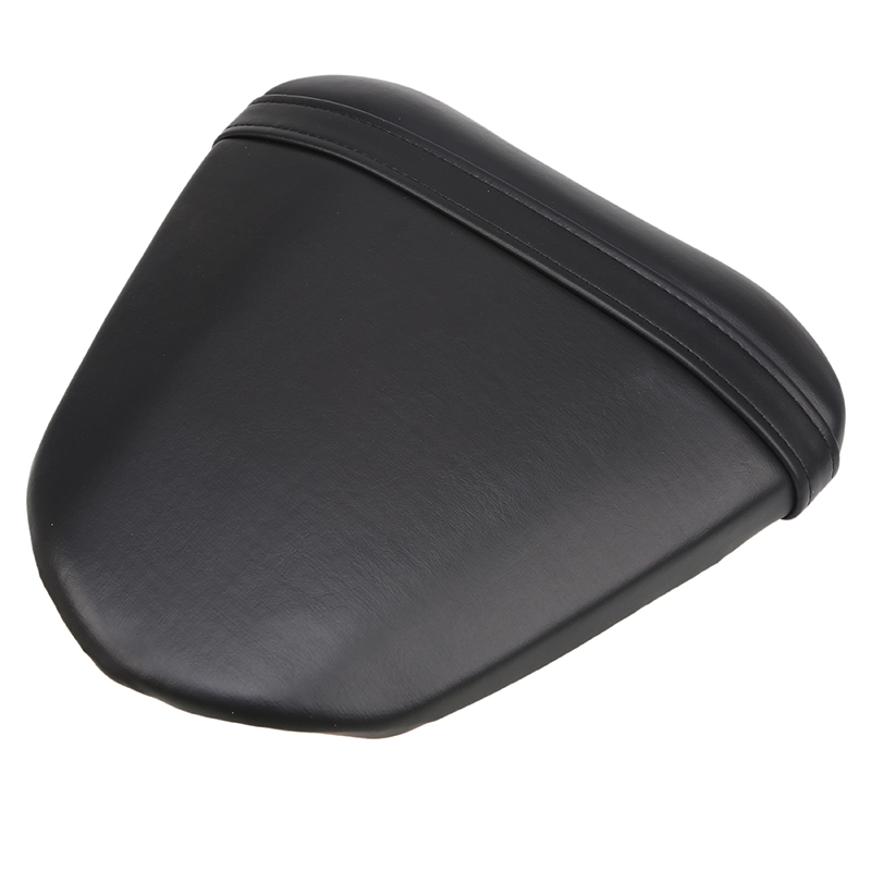 POSSBAY Black PU Leather Motorcycle Seat Cover Leather Passenger Rear Seat Pad Custom For Yamaha R6 R608 2008 2009 08 09