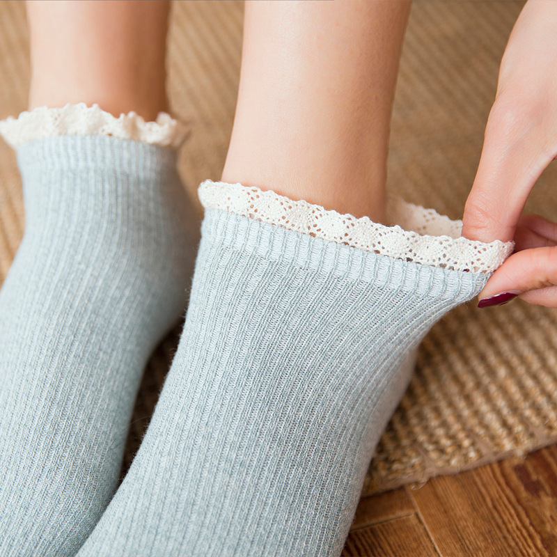 Fashion Soft Lace Cotton Women   Socks   Lovely Lolita Princess Beautiful Ankle   Socks   Spring Summer Autumn High Quality Short   Socks
