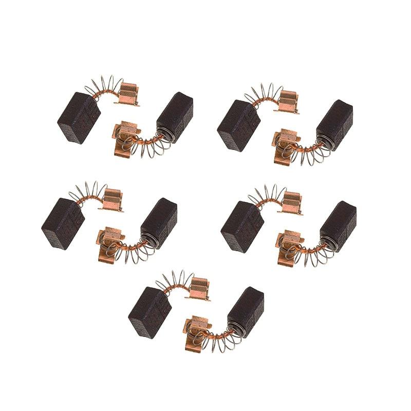 5 Pairs Carbon Brushes 6x9x11.5mm For Makita Electric Motors CB406 CB407 CB418 CB419