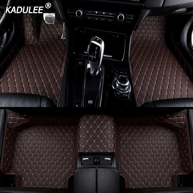 KADULEE Custom car floor Foot mat For Land Rover freelander 2 discovery 3 evoque Range Rover car accessories waterproof carpet