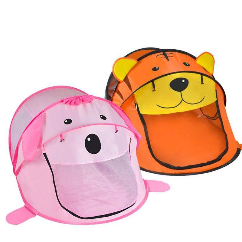 Jouet Tentes Jouent Maison de Jeu De Balle Piscine Pit Pliable Portable Intérieur/Dessin Animé En Plein Air Tigre Animal Tente Jouets Pour Enfants bébé