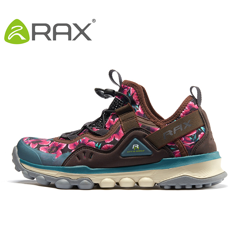 Rax Hiking Shoes Women Outdoor Mountain Antiskid Climbing Sneakers Breathable Lightweight Trekking Shoes Men Gym Sports 345W rax summer hiking shoes men breathable outdoor sneakers antiskid trail mountain shoes women sports shoes durable climbing shoes