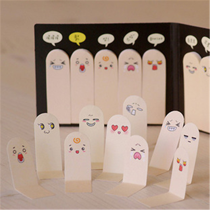DL BF16 Q super cute Korean stationery stickers, N finger stickers, creative pad can tear the post