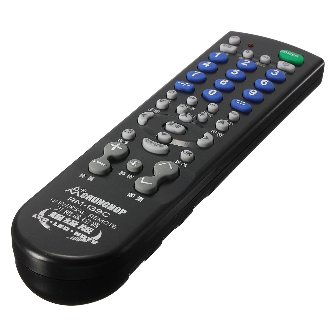 CHUNGHOP RM-139C Universal TV Remote Control Black
