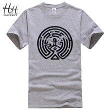 HanHent 2018 Новый Westworld лабиринт печатных футболки Для мужчин короткий рукав Кофты из хлопка с круглым воротником и Запад, Для мужчин Модная футболка ТВ футболки для девочек