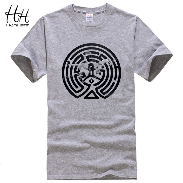 HanHent 2018 New Westworld Maze Printed T Shirts Men Short Sleeve O-neck Cotton West World Dolores Men Fashion T-shirt TV  Tees
