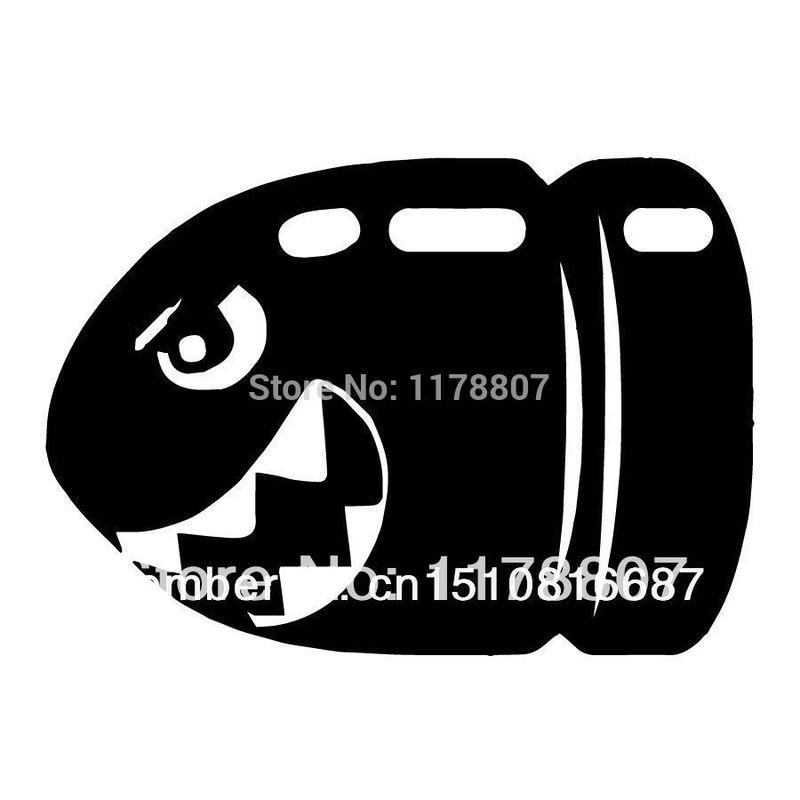 12.7cm x 9cm Bullet Bill Super Mario Bros Games Sticker For Car Window Truck SUV Bumper Door Laptop Kayak Vinyl Decal 13 Colors