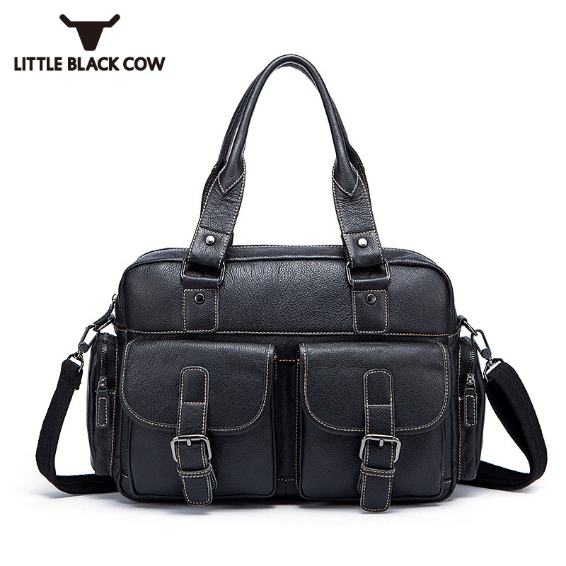 Luxury Handbags Men Bags Designer Tote Bags for Document Big Business Travel Bag Real Leather Crossbody Bags Men Black Coffee business handbags men designer multi layer square sling bag large travel vintage real leather tote for men soft sacoche homme