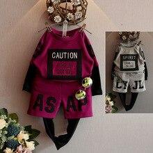 Mode Garçon Vêtements Automne Enfants Ensembles Manches Longues Lettre Hoodies + Pantalon Costumes Enfant Vêtements Survêtement pour les Garçons