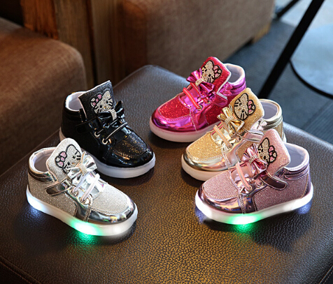 Children Casual Shoes 2017 LED Lights girls boys Child SportShoes Rhinestone Spring And  ...