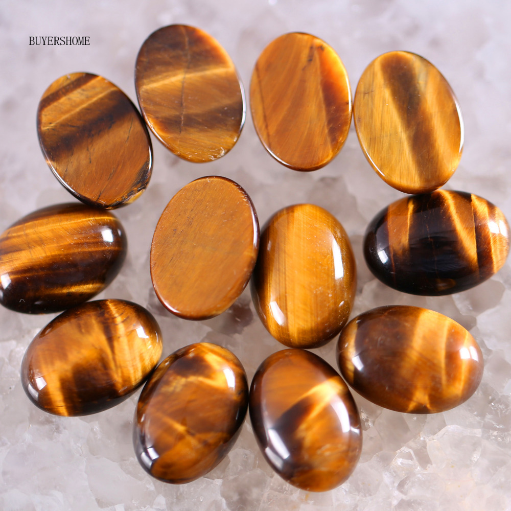 Free Shipping New without tags Fashion Jewelry 13x18MM Natural Gold Tigers Eye CAB Cabochon 10Pcs RK1614