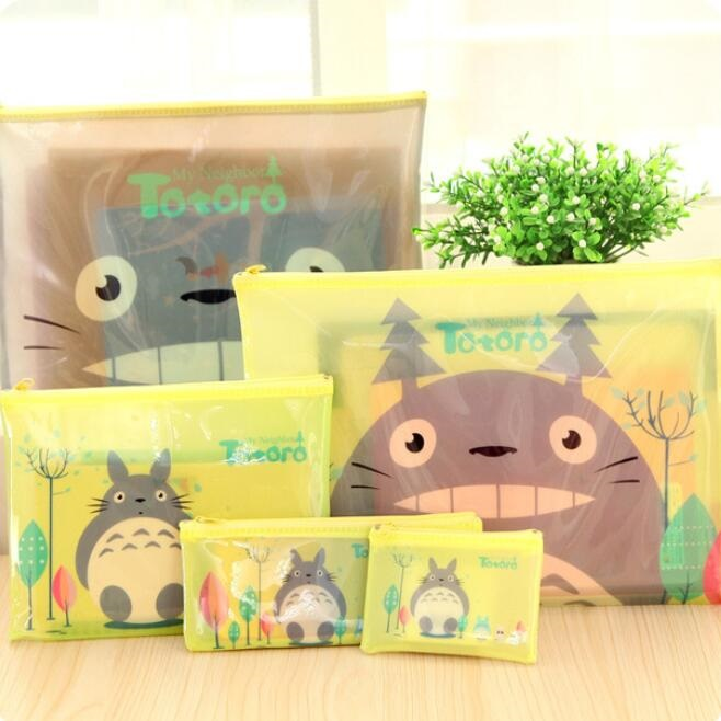 4 Size! Novelty Cartoon Cat A4 A5 B6 Mini Zipper File Bag Document Bag Mesh Bag Stationery Filing Production Wholesale