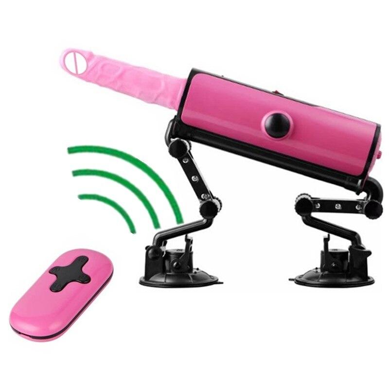 Pink Sex Machine Automatic Thrusting Massage Love Machines Clitoral Stimulator Wireless Remote Control Vibrators for Women E5-45