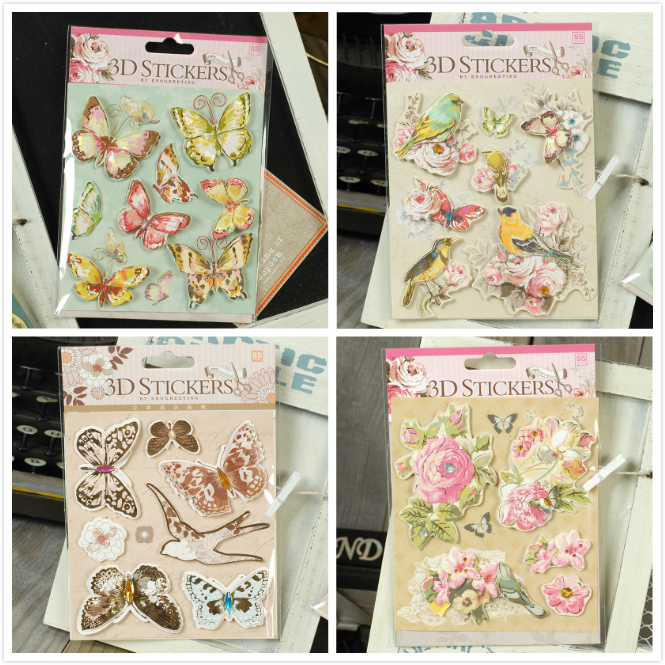 New <font><b>3D</b></font> <font><b>Stickers</b></font> Butterfly Vintage Quotes Metal Frame Paper <font><b>Stickers</b></font> DIY <font><b>Scrapbooking</b></font>/Photo Album Decoration Card Making <font><b>Stickers</b></font> image