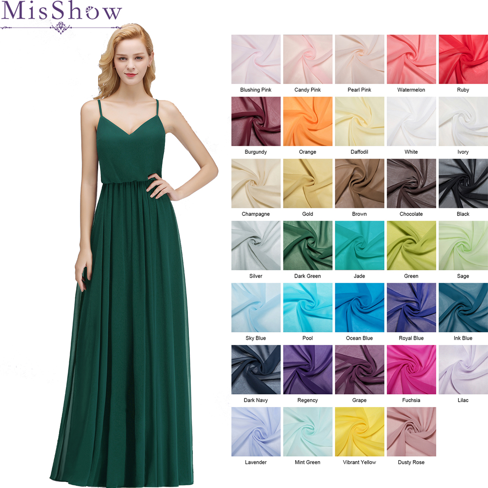 [Custom-made]   Bridesmaid     Dresses   Pleated Floor length Country Beach Spaghetti Straps Wedding Guest Party Gowns Cheap Long   Dress