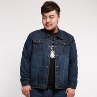 Winter Plus Size 6XL 7XL Thick Denim Jacket Long Sleeve Loose Jeans Coat For Men Autumn