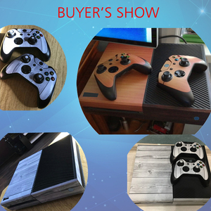 Image 2 - Wood Vinyl Skin Sticker Protector For Microsoft Xbox One and 2 controller skins Stickers For Xbox One Mando Manttee Decal