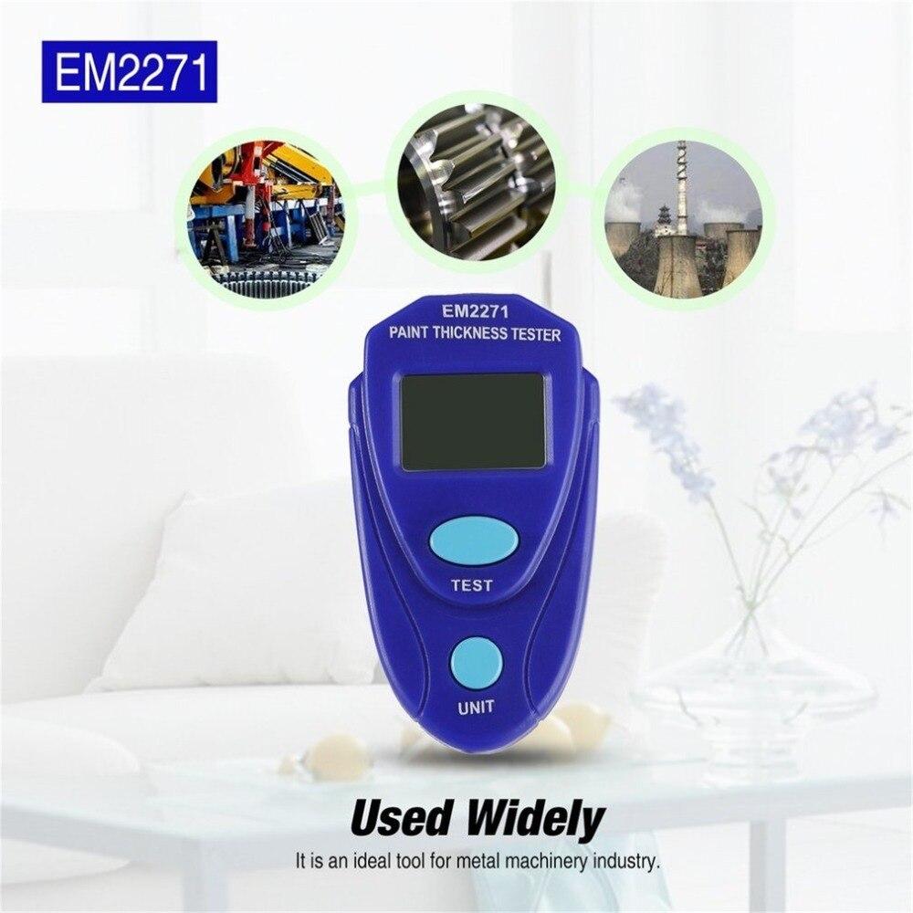 EM2271 Mini Rivestimento Digitale Pittura Spessore Tester del Tester LCD Mini Automotive Stretta di Dati Auto Calibro di Spessore del Rivestimento