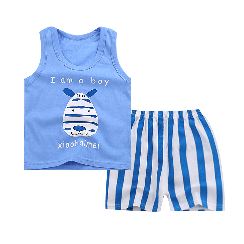 Summer Children Clothing Boys Clothes Set Kids Vest + Shorts Cotton Comfortable Cartoon girls Clothing Beach suit on sale boys clothing set kids sport cartoon cotton clothes suit boys clothes sweater pants 2pcs clothing set kids set