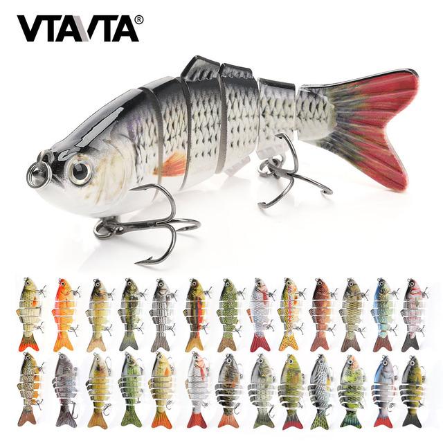 VTAVTA Sinking Wobblers Fishing Lures 10cm 17.5g 6 Multi Jointed Swimbait Hard Artificial Bait Pike/Bass Fishing Lure Crankbait