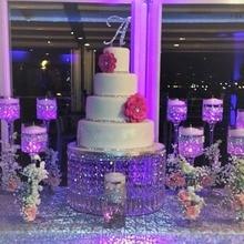 1 шт Свадебные прозрачные акриловые торт стенд диаметр 40 см х высота 20 см
