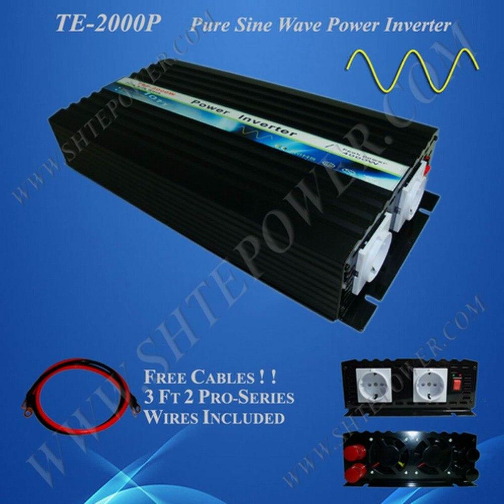Off grid inverter pure sine wave 24v to 220v, 12v 24v DC to AC power inverter 2000w