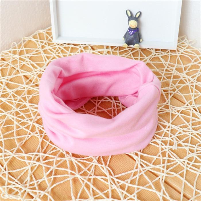 Новинка; Модный хлопковый шарф для маленьких девочек; осенне-зимний шарф для маленьких мальчиков; Детский шарф с круглым вырезом; Детские шарфы; волшебный шейный платок - Цвет: pink