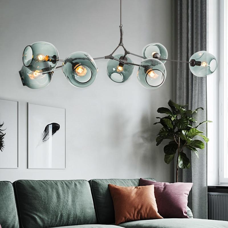 Nordic Lustre Moderno de iluminação Led Lâmpada 110V220V Industrial Lustres de Teto Luminárias de Iluminação Sala de estar Quarto