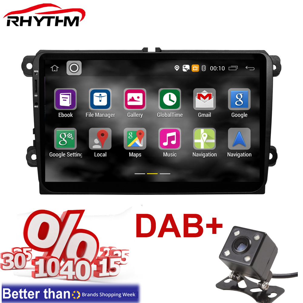 For Golf Skoda Android 5 1 Gps Auto Radio 2 Din Car Radio 9 Inch To