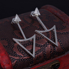 small earring earings fashion jewelry  for girls aros boucle d'oreille triangle rose gold sliver stud earrings for women E2303