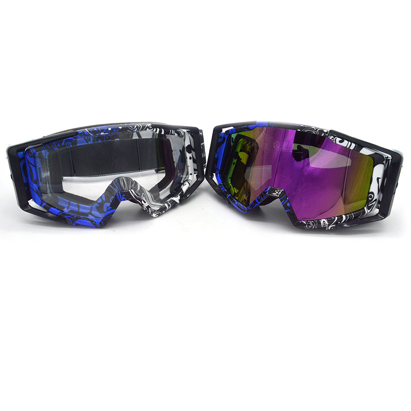Evomosa High quality transparent Sport racing off road motocross goggles glasses motorcycle dirt bike Clear Lenses