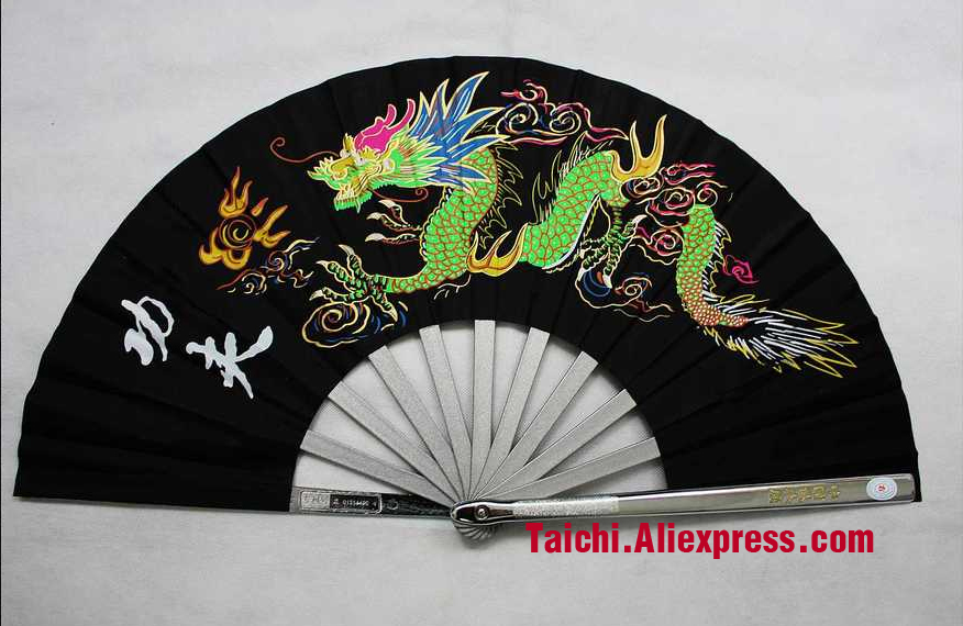 En Acier inoxydable Tai Chi Ventilateur Kungfu Fan Un Art Martial Fer Ventilateur (Unique Loong)