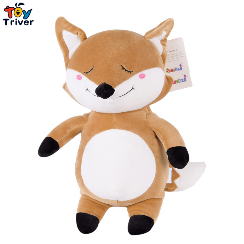 цена на Cute kawaii plush fox  toys doll stuffed animal birthday christmas party gift present for baby kids children friend Triver